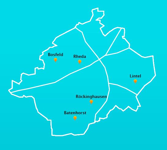 Stadtteile Winterdienst Schnee- Eisbeseitigung Rheda-Wiedenbrück
